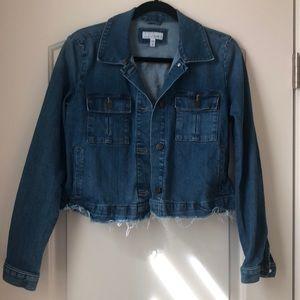 Brand new, never worn. LOFT cropped denim jacket